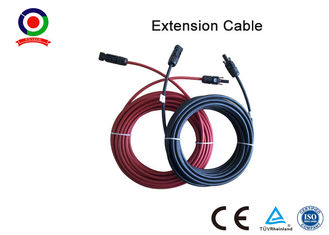 Excellent Flexibility 6mm Solar Panel Cable High Electrical Conductivity With  Connector