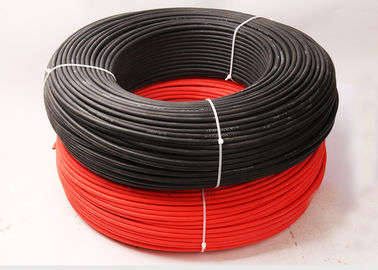 Hard Wearing Electrical Cable Wire / 4mm Pv1f Photovoltaic Cable For Power System